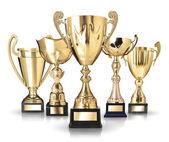 Złote trofea — Zdjęcie stockowe