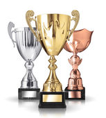 Different trophies — Stock Photo