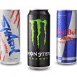 Постер, плакат: Shark Red Bull and Monster energy drink