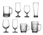 Set of beer cup glasses — Stock Photo