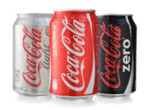 Coca-Cola cans — Stock Photo
