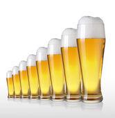Row of beer — Stock Photo