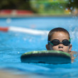 Boy practice swimming — Stock Photo #37965095