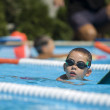 Boy practice swimming — Stock Photo #37965119