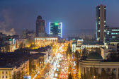 Donetsk at night — Stock Photo