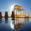Moonrise over the thermal power plant — Stock Photo #38622441