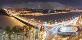 Stad bij nacht — Stockfoto