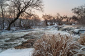 River in the winter — 图库照片