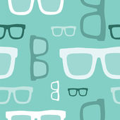 Hipster glasses seamless pattern — Vector de stock