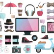 Hipster design elements set. — Stock Vector