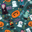 Vector de stock : Happy Halloween seamless pattern.