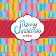 Merry Christmas greeting card background. — Vector de stock