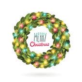 Noel çelenk çelenk vektör görüntü — Stok Vektör