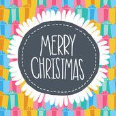 Merry christmas etikett kort. xmas bakgrund — Stockvektor