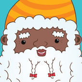 African american Santa Claus — Stock Vector