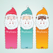 Christmas banners set with Santa Claus — Stock Vector