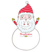 Santa Claus and Christmas banner — Stock Vector