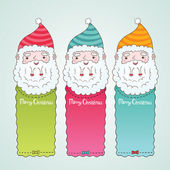Santa Claus and Christmas banner set — Stock Vector