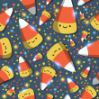 Halloween corn seamless pattern — Stockvectorbeeld
