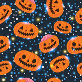 Halloween pumpkin seamless pattern — Stock Vector
