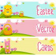 Spring banner set — Stock Vector