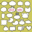 Stock Vector: Speech bubble set