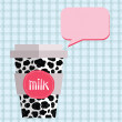 Cow pattern paper cup — Vector de stock