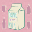Milk objects — Vector de stock