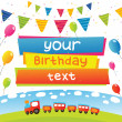 Birthday card — Stockvectorbeeld