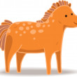 Cartoon horse — Image vectorielle