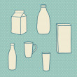 Milk objects — Vettoriale Stock