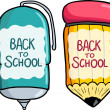Stock Vector: Back to school texture