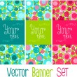 Floral banner set — Stock Vector