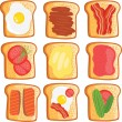 Toast set — Stock Vector