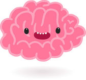 Brain character — Stock Vector