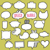 Speech bubble set — Stockvektor