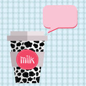 Cow pattern paper cup — Stock Vector