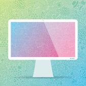 Computer weergeven — Stockvector