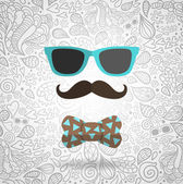 Hipster man — Stock Vector