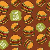 Hamburger pattern — Stock Vector