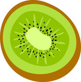 Cartoon juicy kiwi — Stock Vector