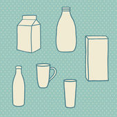 Milk objects — Stock Vector