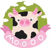 Cartoon cow — Stock Vector