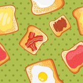 Breakfast seamless pattern — Stock Vector