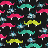 Halloween mustache seamless pattern — Stock Vector