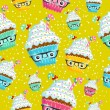 Background with cakes — Imagens vectoriais em stock