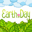 Earth day card template. Vector postcard layout. — Stock Vector #34477649