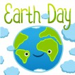 Stock Vector: Earth day card template. Vector postcard layout.