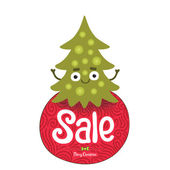 Christmas tree sale badge — Vector de stock