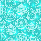 Christmas ball seamless pattern — Stock Vector